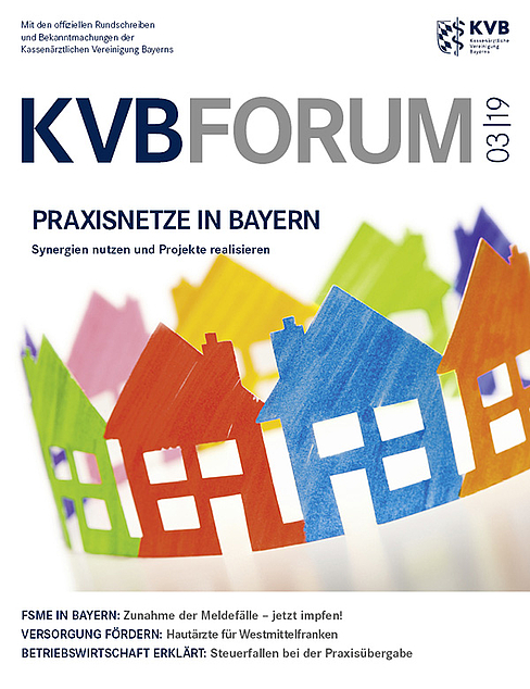 kvb forum 3 2019 kassen rztliche vereinigung bayerns kvb. Black Bedroom Furniture Sets. Home Design Ideas